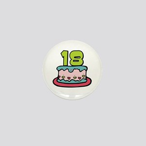 18th Birthday Cake Mini Button